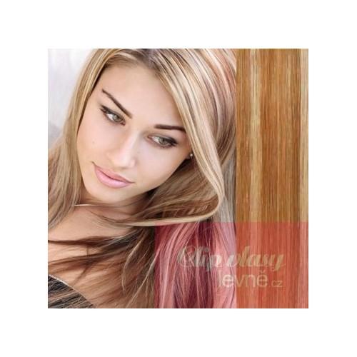 Clip in maxi set 63cm pravé lidské vlasy – REMY 240g – SVĚTLEJŠÍ BLOND c2d12a1b61e