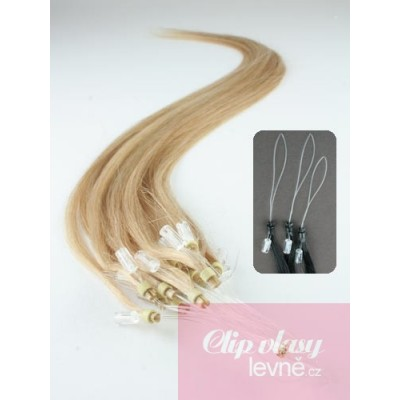 Vlasy pro metodu Micro Ring / Easy Loop / Easy Ring / Micro Loop 50cm – přírodní blond