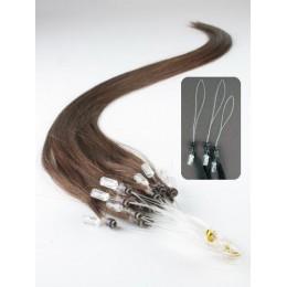 Clip in vlnité vlasy pravé lidské REMY 53cm - platina