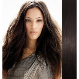 Clip in vlasy 43cm 100% lidské - REMY 70g – přírodní černá