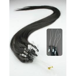 Vlasy pro metodu Micro Ring / Easy Loop / Easy Ring / Micro Loop 60cm – přírodní černá