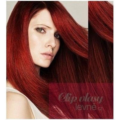 Vlasy pro metodu Pu Extension / TapeX / Tape Hair / Tape IN 60cm - měděná