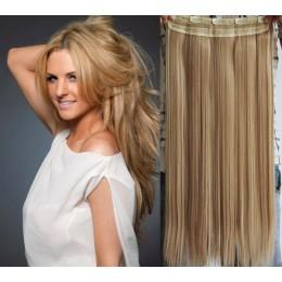 Clip in rychlopás 43cm rovný – přírodní / světlejší blond