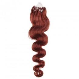 Vlnité vlasy pro metodu Micro Ring / Easy Loop 50cm – měděná