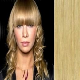 Clip in vlasy 43cm 100% lidské - REMY 70g – platina