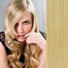 Clip in vlasy 43cm 100% lidské - SUPER HUSTÉ 100g - přírodní blond
