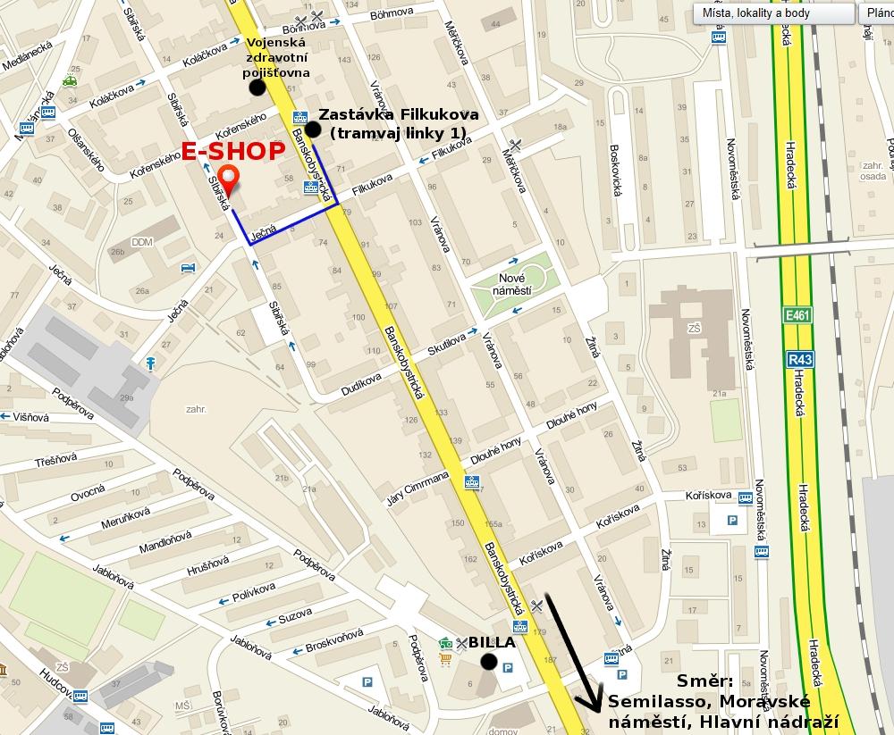 Clip Vlasy Levne mapa