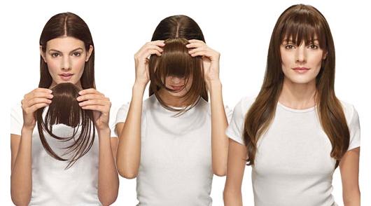Připínání Clip in ofiny- prodloužení vlasů doma