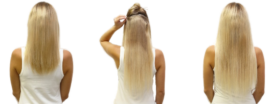 Připínání Clip in - prodloužení vlasů doma