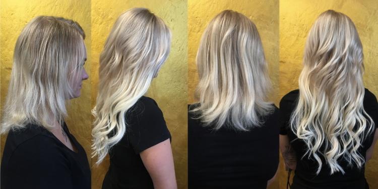 Prodloužení vlasů Tape in blond