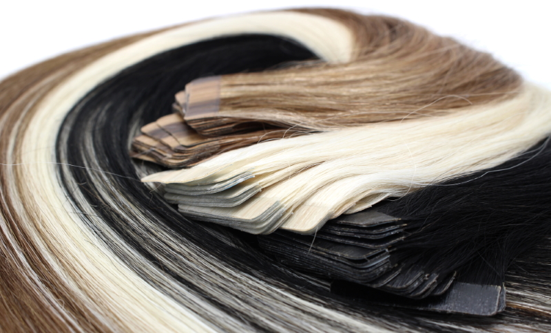 Das Tape in extensions Methode