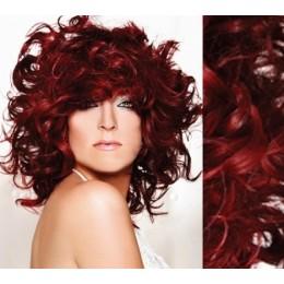 Clip in kudrnaté vlasy 100% lidské REMY 53cm - měděná