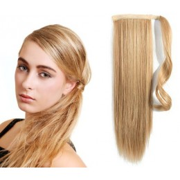 Clip in příčesek culík/cop 100% lidské vlasy 60cm - přírodní/světlejší blond