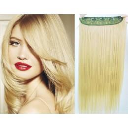Clip in rychlopás 53cm rovný – nejsvětlejší blond