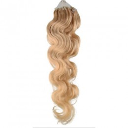 Vlnité vlasy pro metodu Micro Ring / Easy Loop 50cm – přírodní blond