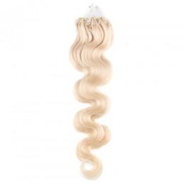 Vlnité vlasy pro metodu Micro Ring / Easy Loop 50cm – platina