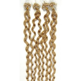 Kudrnaté vlasy pro metodu Micro Ring / Easy Loop 50cm – přírodní blond