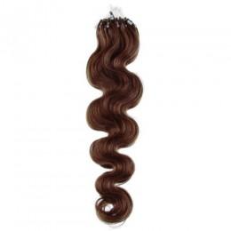 Vlnité vlasy pro metodu Micro Ring / Easy Loop 60cm – středně hnědé