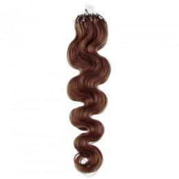 Vlnité vlasy pro metodu Micro Ring / Easy Loop 60cm – světlejší hnědé