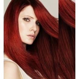 Clip in vlasy 43cm 100% lidské - SUPER HUSTÉ 100g - měděná